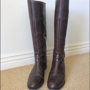 Saddle Brown Boots. Excellent condition. 9.5